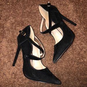 cute pointed toe black heels! 🖤